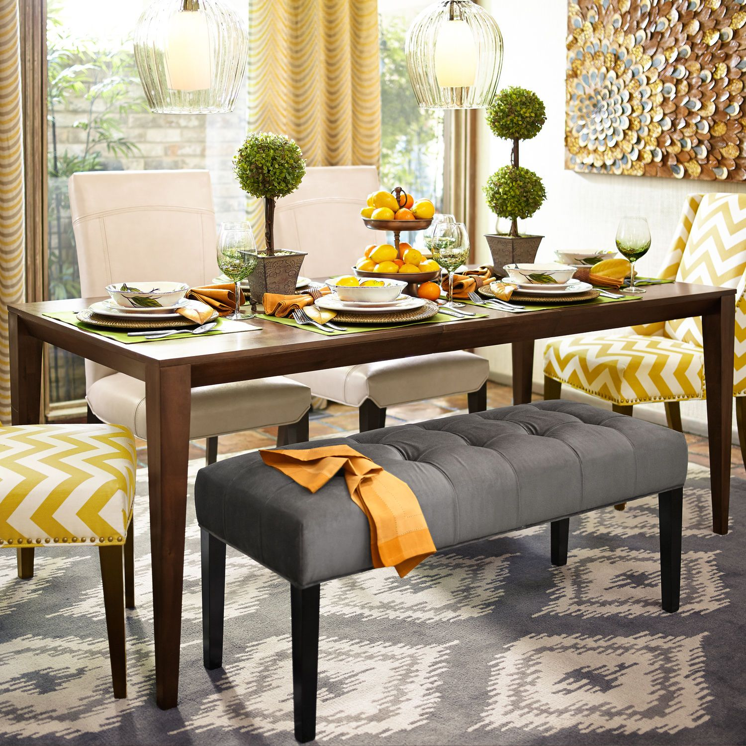 Dylan Extension Dining Table Walnut Dinning Room Chairs
