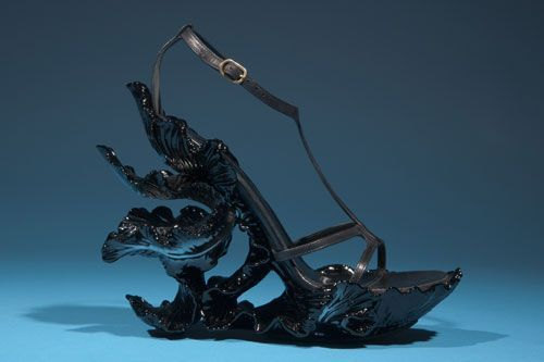 Shoe by Alexander McQueen. From the collection of Daphne Guinness, to be featured in the exhibition Daphne Guinness. Photograph courtesy The Museum at FIT.