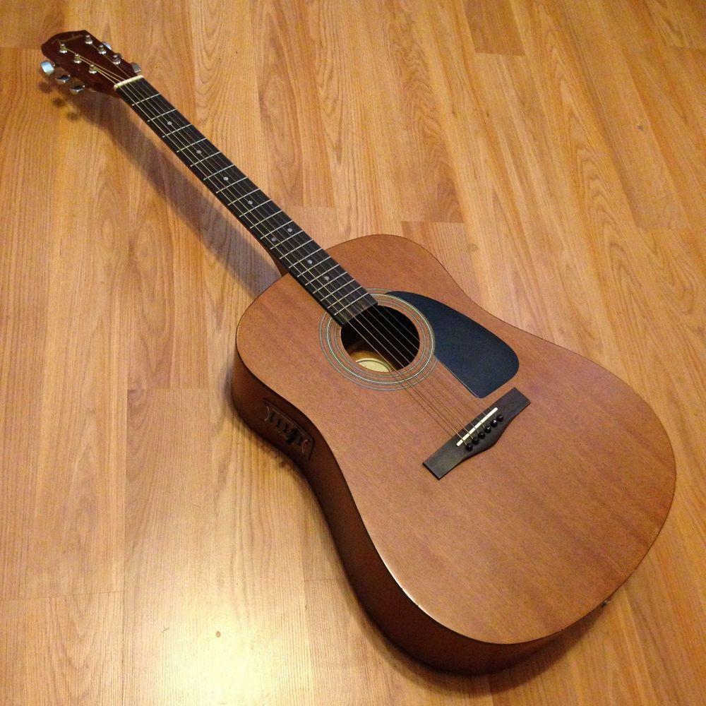 Fender Dg 5 Acoustic Guitar With L R Baggs Pre Amp Pickup And Gig Bag Fender Acoustic Guitar Acoustic Electric Guitar
