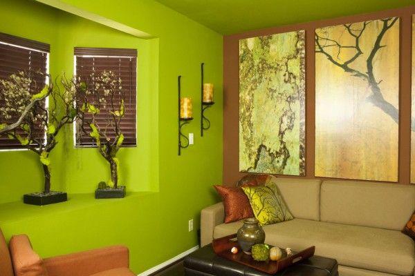 Zen office with vibrant pop green corner chill out zen - Zen office decorating ideas ...
