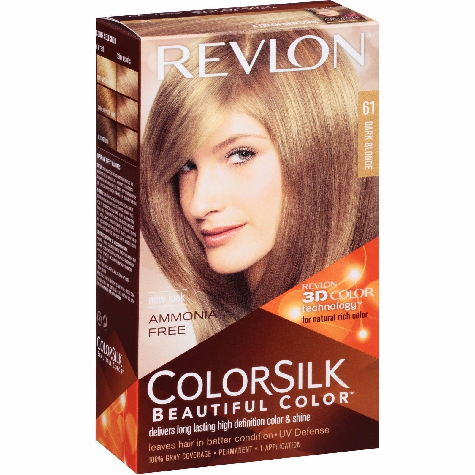 Revlon Colorsilk Beautiful Color 61 Dark Blonde Revlon Colorsilk Hair Color Permanent Hair Dye