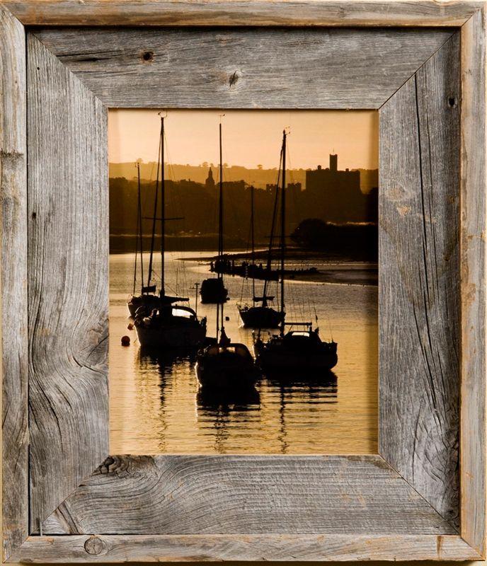 8x8 Barnwood Picture Frames, Medium Width 2.75 inch Lighthouse ...
