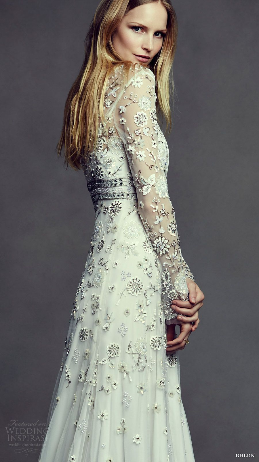 Bhldn Bridal May 2016 Illusion Long Sleeves Jewel Neck Trumpet Wedding Dress Tabitha Zv
