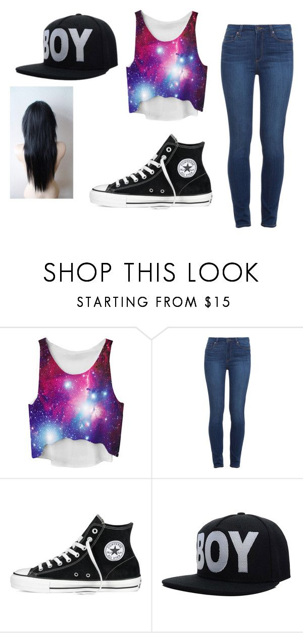 """""""Day in Barca"""" by phoenixfire2216 ❤ liked on Polyvore featuring Paige Denim and Converse"""