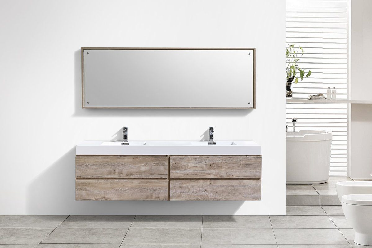 Tenafly 80 Double Modern Bathroom Vanity Set Bathroom Vanity