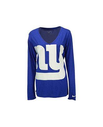 a4a232574 Nike Women s Long-Sleeve New York Giants Logo Wrap T-Shirt - Sports Fan  Shop By Lids - Men - Macy s