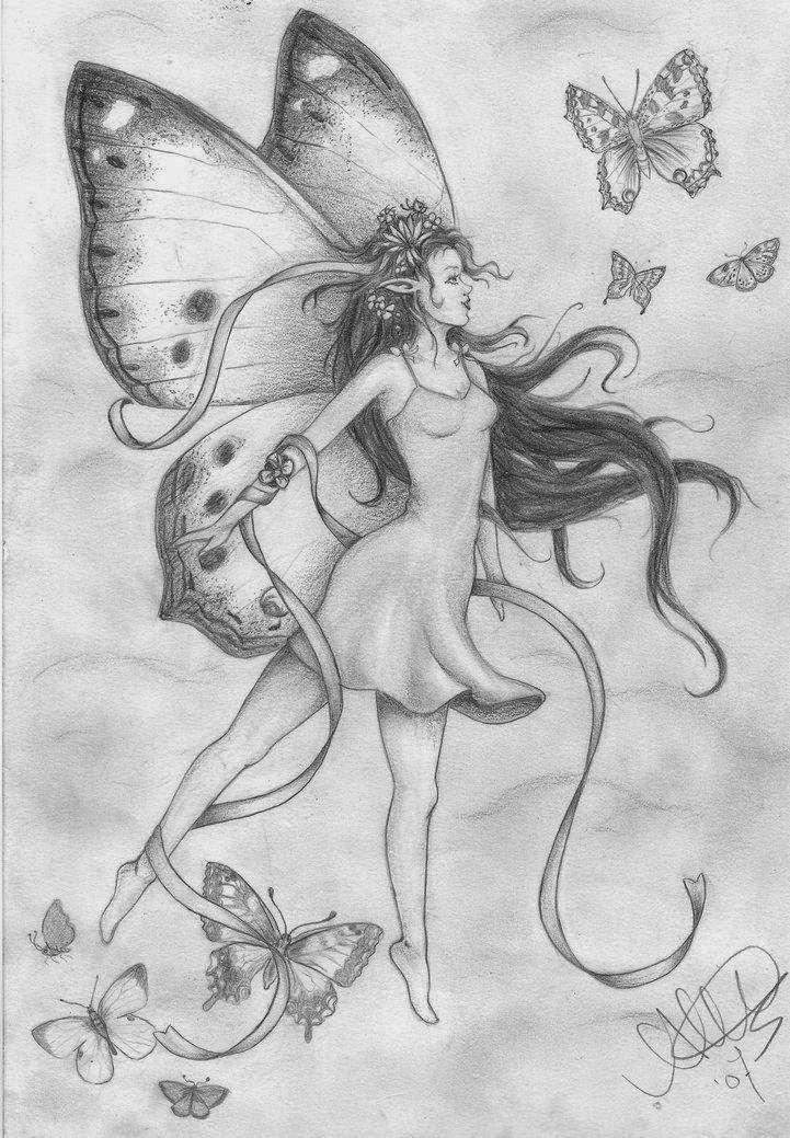 Картинки волшебных фей для срисовки