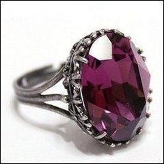 Bague gothique Purple Crystal