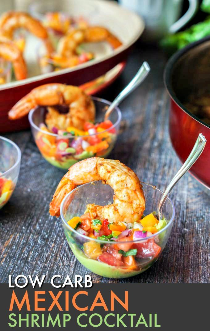 Mexican Shrimp Cocktail (low carb) #mexicanshrimprecipes