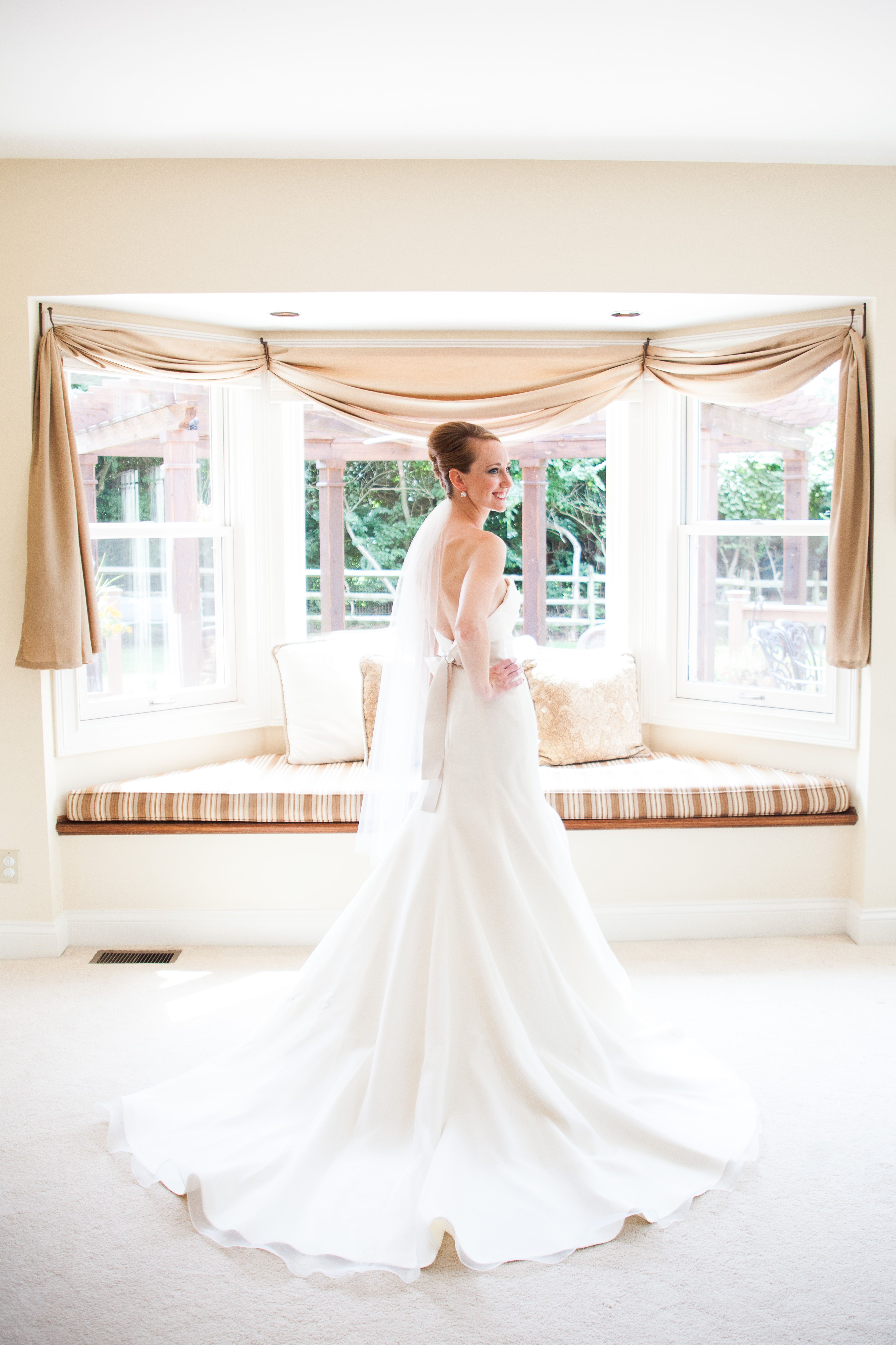 Caitlin Looking Radiant In Her Blush By Hayley Paige Laila Wedding Gown From Hyde