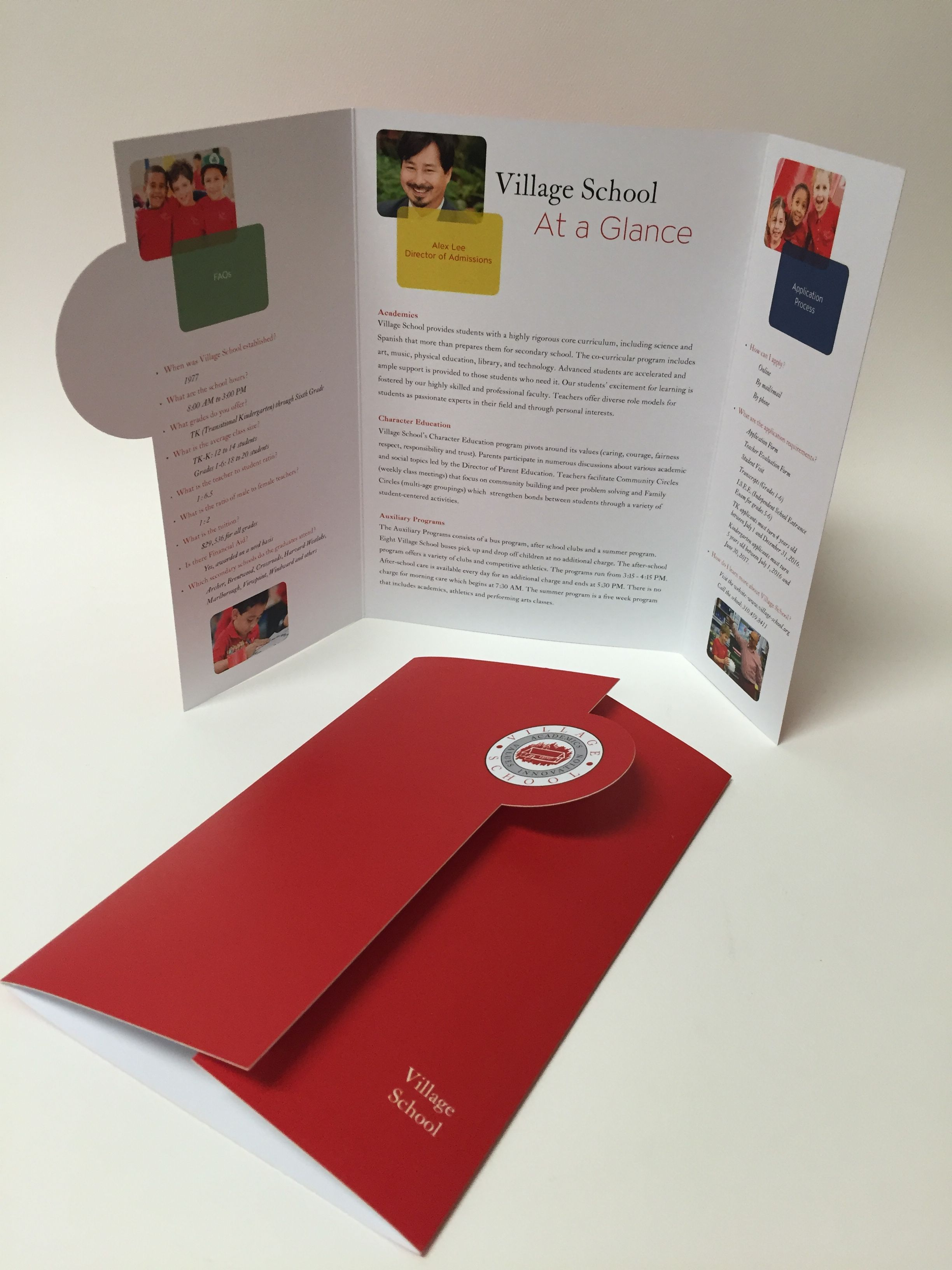 village school faq brochure zorn design studio carol zorn