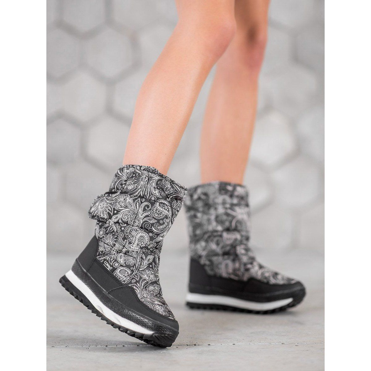 Shelovet Sniegowce Na Zime Czarne Boots High Top Sneakers Top Sneakers