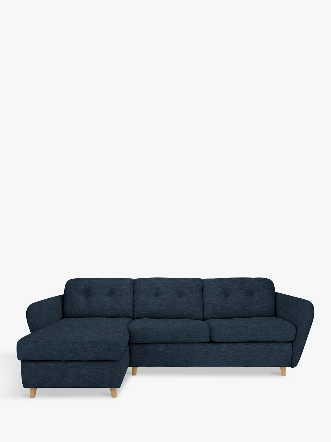 House By John Lewis Arlo Lhf Chaise End Sofa Bed Light Leg Erin Midnight Sofa Bed Sofa Traditional Sofa