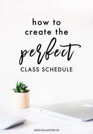 how to create the perfect class schedule activities pinterest