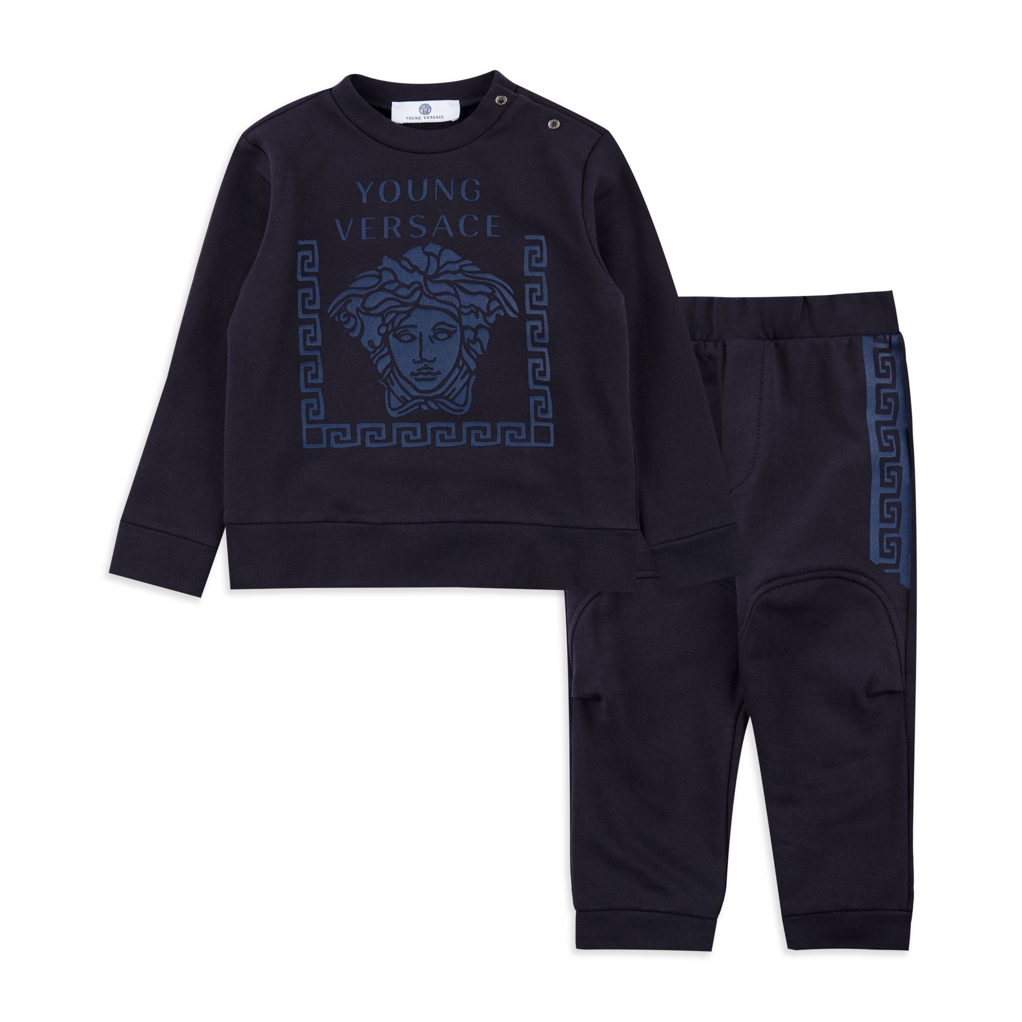 YOUNG VERSACE Baby Boys Medusa Tracksuit Navy Baby boys tracksuit
