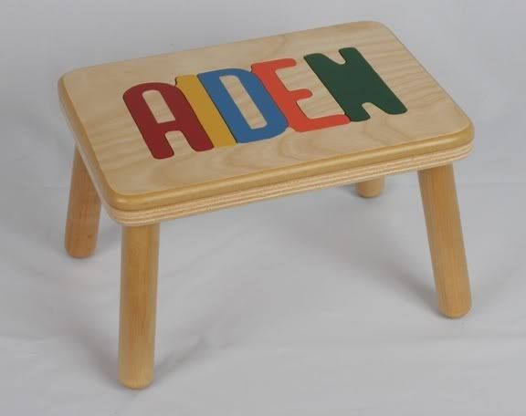 Name Puzzle Step Stool And Custom Personalized Name Puzzle