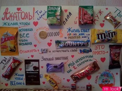 Плакат на день рождения своими руками со сладостями сестре фото 414