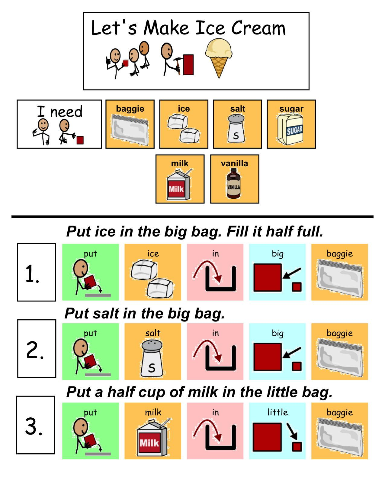 Download this free adapted picture recipe to make ice cream in a bag download this free adapted picture recipe to make ice cream in a bag with your students httptalcaacice20cream20recipepdf ccuart Image collections