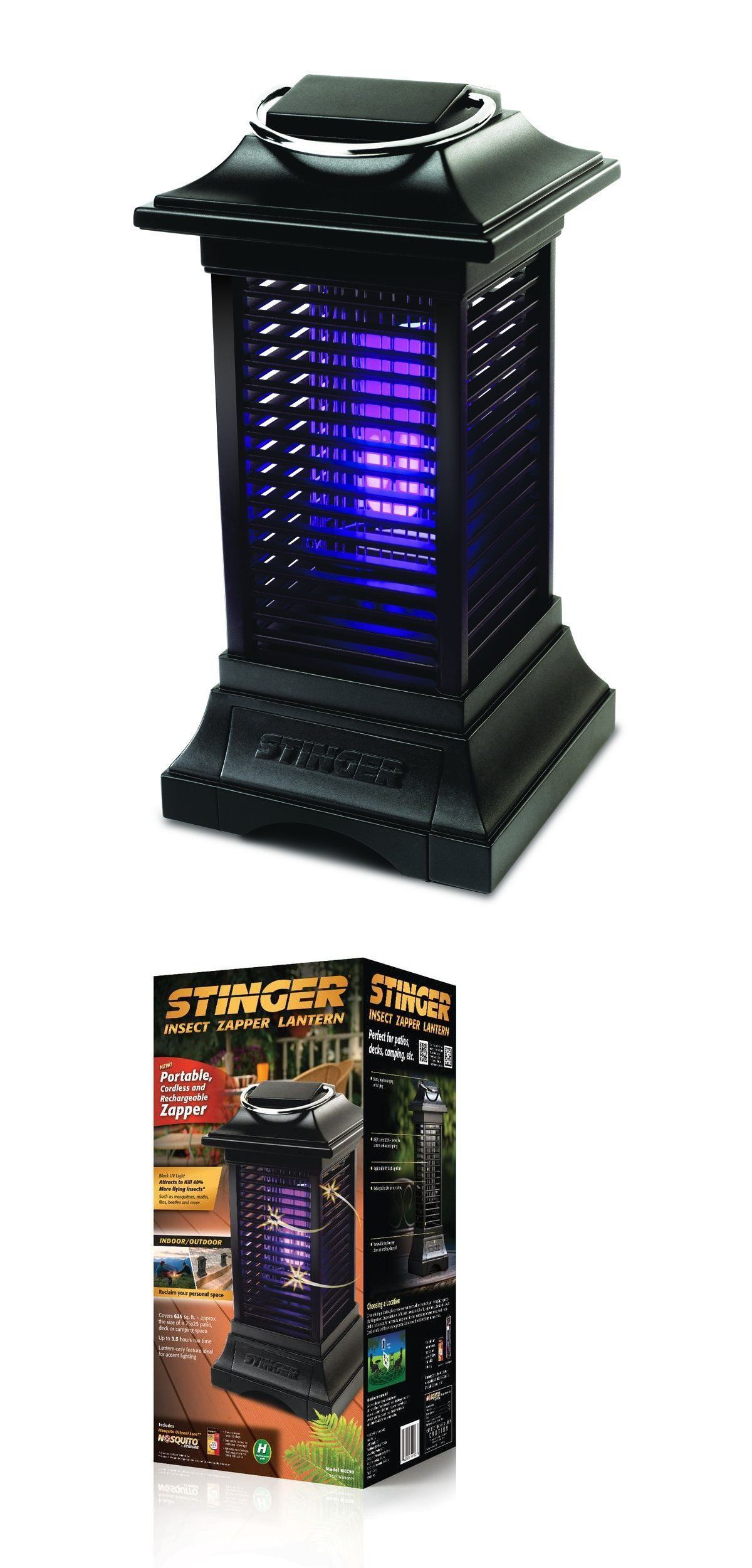 Insect Zappers 181040: Bug Zapper Flying Insect Killer Indoor Outdoor  Mosquito Patio Backyard Camping