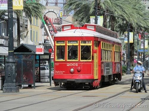 The streetcar along Canal Street - What I Learned at #NicheMommy12