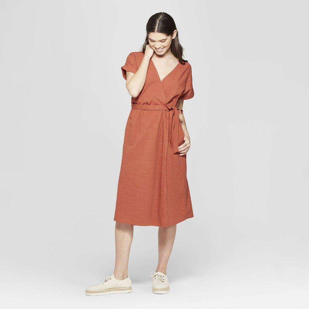 Women S Short Sleeve V Neck Midi Dress Universal Thread Orange Xl Orange Penny V Neck Midi Dress Midi Dress Womens Dresses [ 1000 x 1000 Pixel ]