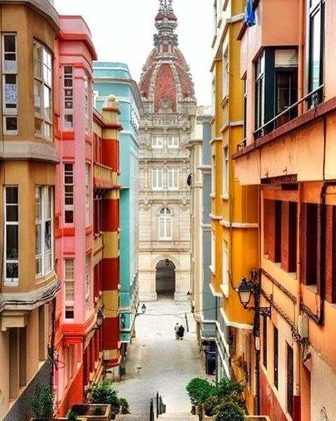 Colorful Views In La Coruña This Beautiful City In Galicia Is A Must See Spain Travel La Coruña Places Around The World