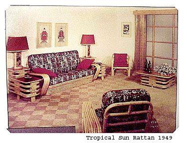 Tropical Sun Rattan Furniture Company, This Photo 1949