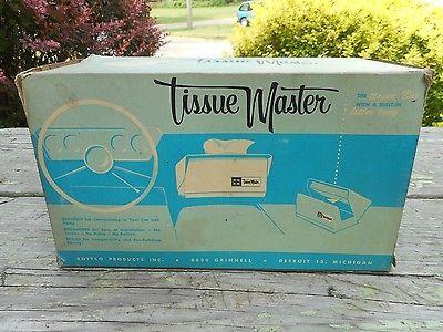 Vintage NOS Tissue Master Kleenex Automobile Auto Dispenser Car NEAT