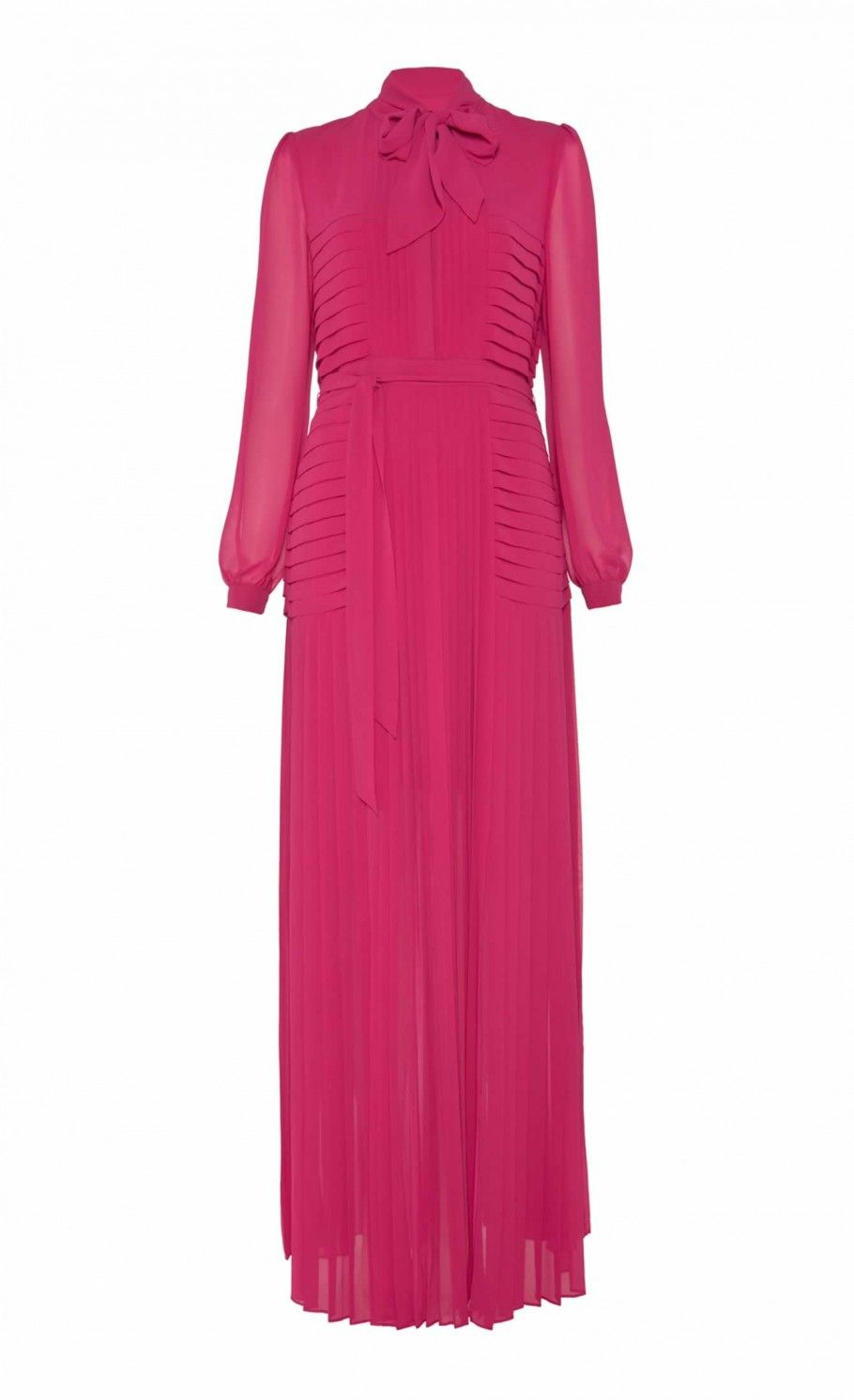 Long Rose Pleated Dress | Full Length Dresses | Temperley London.  I love Alice Temperley but can't decide if this is very pretty or too 1970s.