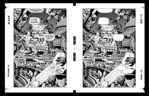 Jack Kirby Silver Surfer  Pg 8 Rare Large Production Art Two Up | eBay talesofsuspense