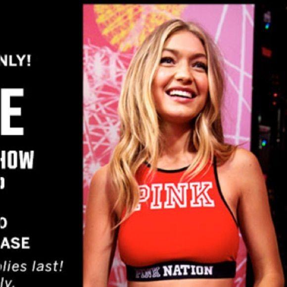 PINK VS fashion show bra top! As seen on Gigi for VS 2015 fashion show PINK Victoria's Secret Intimates & Sleepwear Bras
