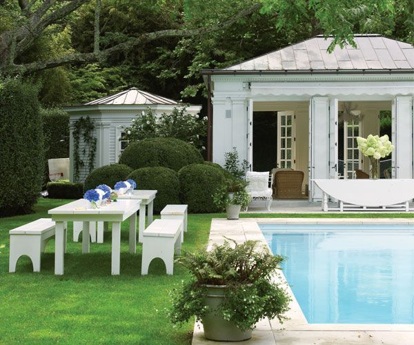 Coastal Pool House: Coastal Style: Poolside With Aerin