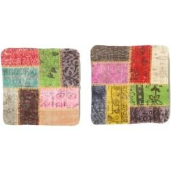 Photo of Patchwork cushion cover package of 2 50×50 ModernerCarpetvista.de