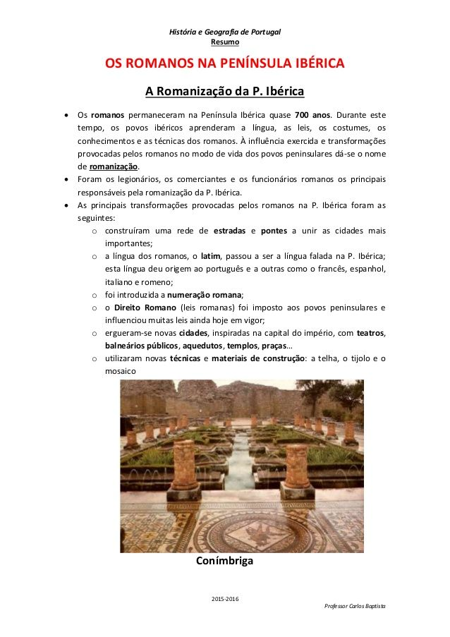 Resumo A Romanizacao Resumo Historia Resumos De Historia