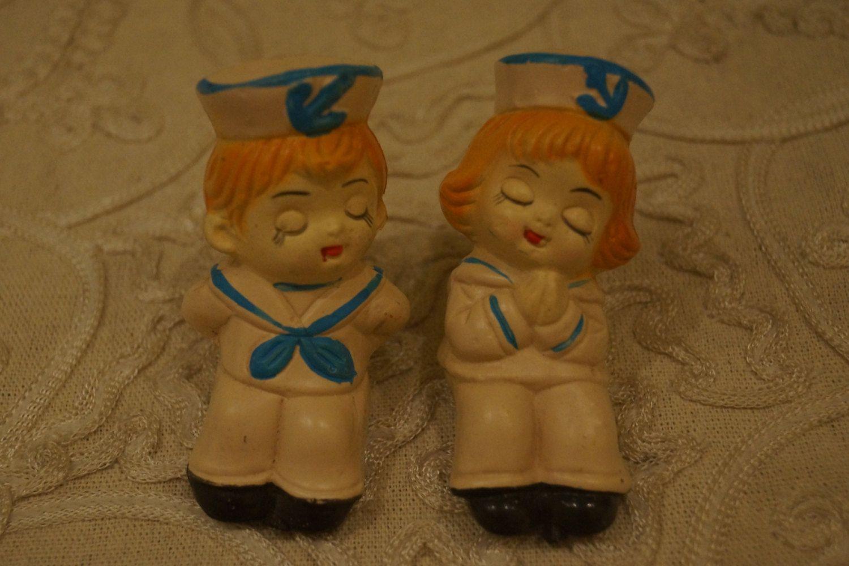 Vintage Kissing Sailor  Boy and Girl Salt by AmyFindsEverything, $17.00