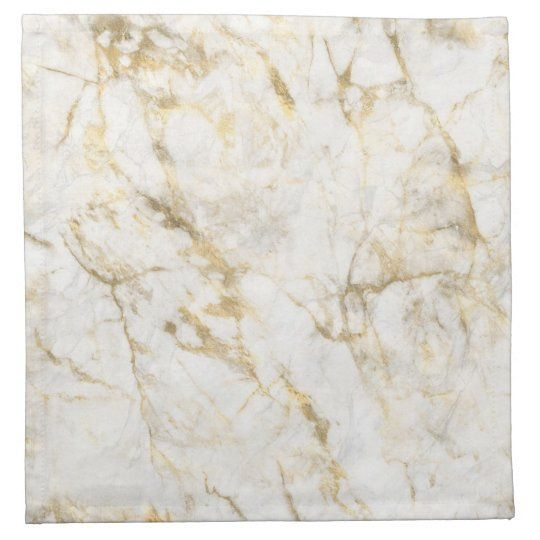 Luxury Gold and White Marble Cloth Napkin | This elegant design features a chic white and gold marble pattern.