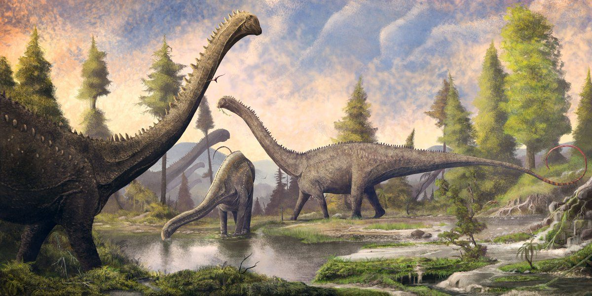 New mural of diplodocus which will be displayed at dorset