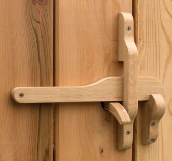 Rustic Wooden Gate Latch Quot The Oxford Quot 360 Yardware