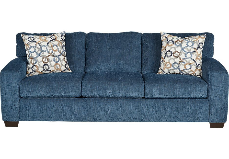 Lucan Navy Sofa 444 0 95w X 39d 37h Find Affordable Sofas For Your Home That Will Complement The Rest Of Furniture Isofa Roomstogo