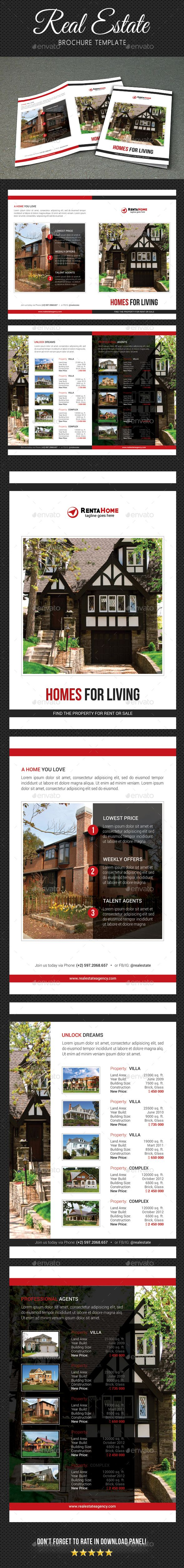 Real Estate Brochure  Brochures Print Templates And Brochure