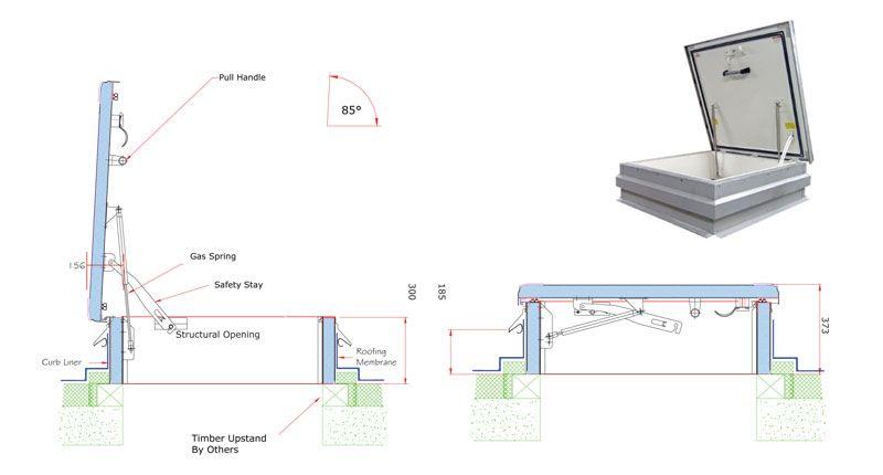 Premium Roof Hatch Roof Hatch Roof Access Panels