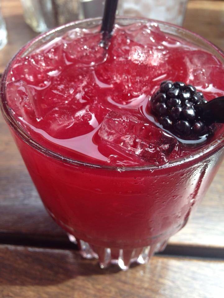 Blackberry vodka lemonade on the back patio  makes for a relaxing Sunday