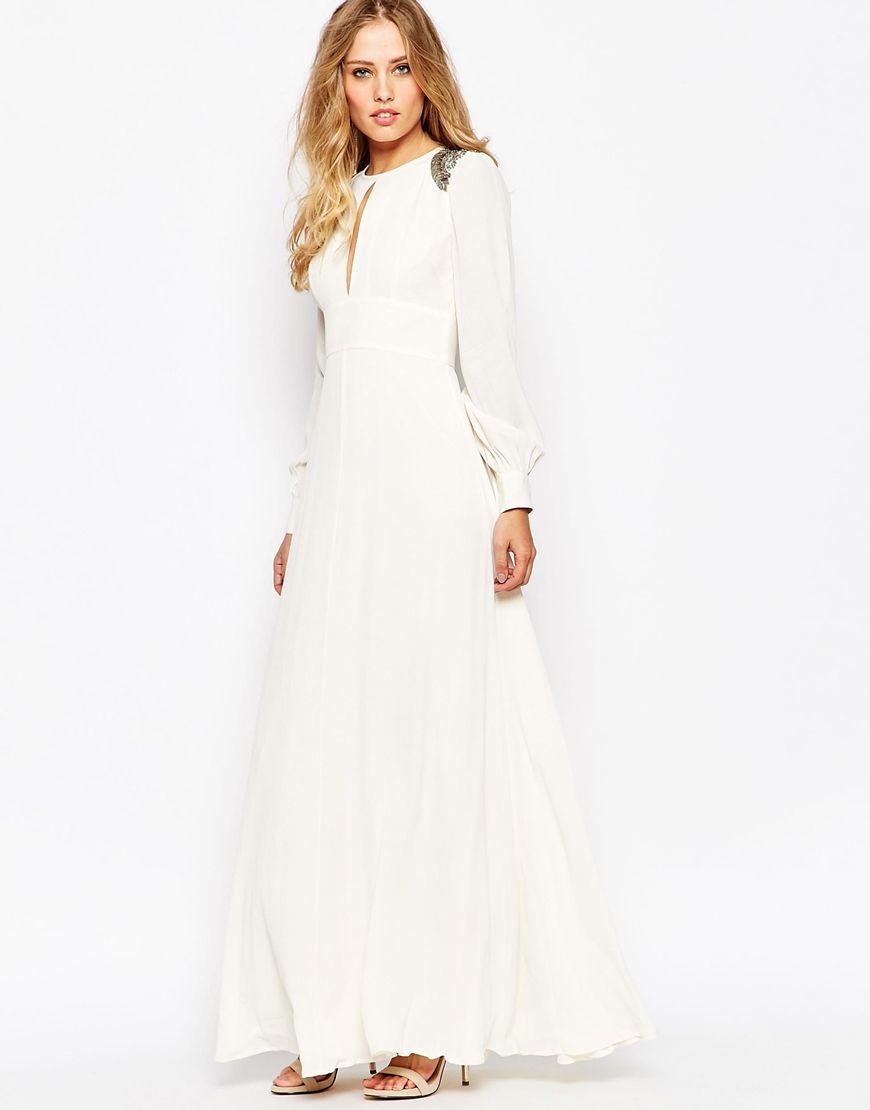 Image of asos embellished shoulder s maxi dress asos obsessed