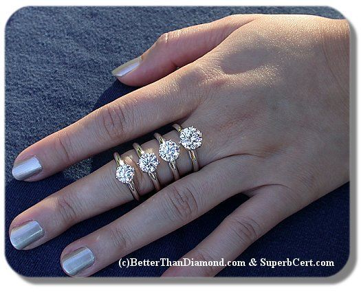 6 5 Fingers Weddingbee Diamond Carat Size Carat Comparison Diamond