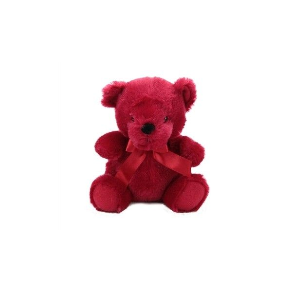 Red Teddy Bear 6 Inch Rainbow Bear by First and Main at Stuffed Safari ($3.99) ❤ liked on Polyvore featuring bear, cute and teddy bear