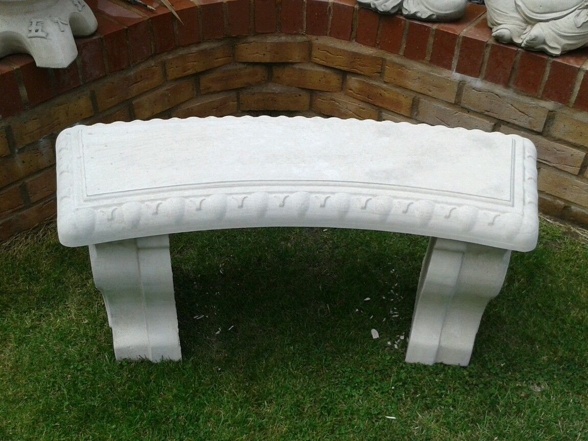 Outstanding Garden Bench Curved Stone Concrete Bench Not Wooden Garden Onthecornerstone Fun Painted Chair Ideas Images Onthecornerstoneorg