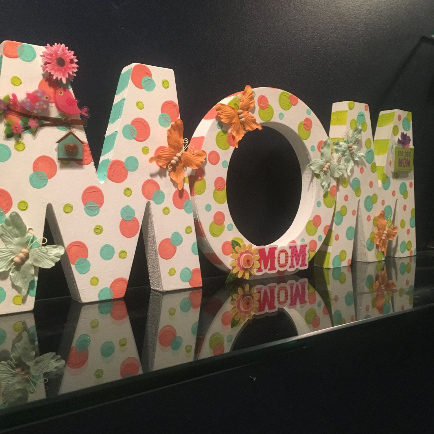 Mom Wood Block Letters MotherS Day Gift Gift For Mom MomS