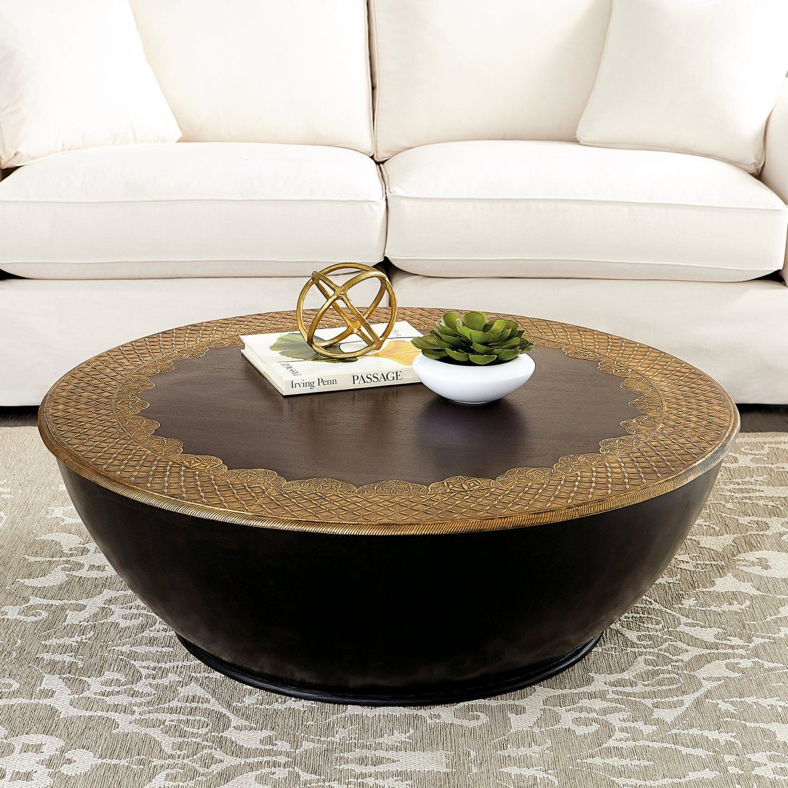 Sahara Coffee Table In 2020 Decorating Coffee Tables Drum Coffee Table Table