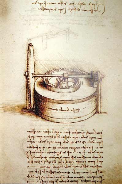 Leonardo Da Vinci Spring Driven Power Source Study Da Vinci Inventions Leonardo Da Vinci Da Vinci Art