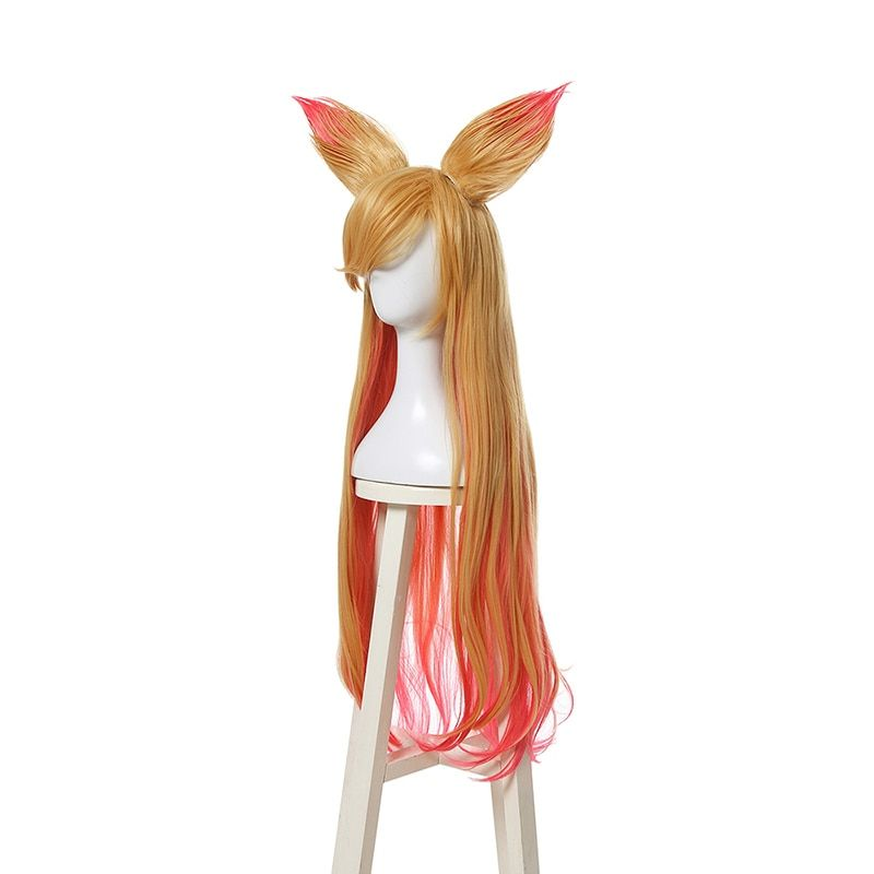 Hair Extensions & Wigs L-email Wig New Game Lol Lux Star Guardian Cosplay Wigs Heat Resistant Synthetic Hair Perucas Cosplay Wig